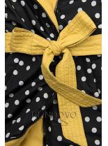 Oboustranná bunda žlutá/tečkovaná