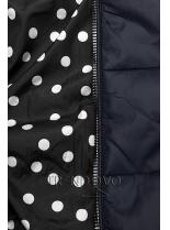 Oboustranná bunda tmavě modrá/tečkovaná