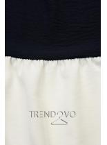 Volánový top modrá/bílá/khaki