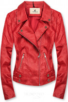 Červená motorkářská bunda