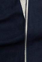 Tmavě modrá mikina se šikmým zipem