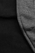 Grafitová mikina v asymetrickém střihu