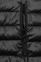 Oboustranná bunda s květinovým futrem černá
