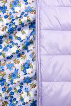 Oboustranná bunda s květinovým futrem lila