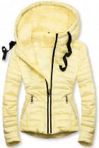 Žlutá prošívaná lesklá bunda