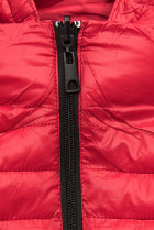 Červená sportovní oboustranná bunda