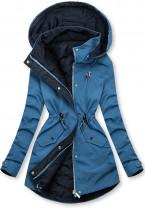 Oboustranná bunda modrá/tmavě modrá